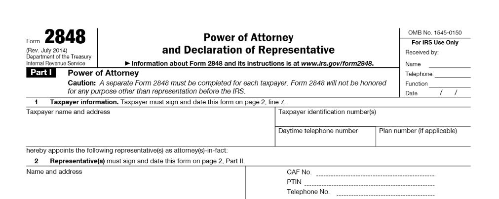 IRS Form 2848 | Power Of Attorney | Form 2848 Instructions